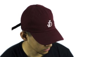BONÉ DAD HAT ABA CURVA JD LOGO - BORDO