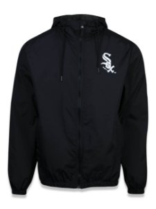 JAQUETA WINDBREAK CORTA-VENTO NEW ERA CHICAGO WHITE SOX MLB - PRETA