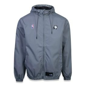 Jaqueta Windbreak corta-vento Phoenix Suns Nba New Era - Cinza