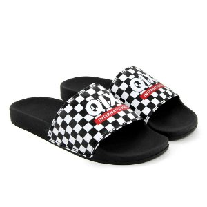 CHINELO SLIDE QIX GRID INTERNATIONAL - PRETO