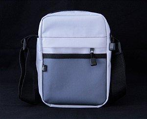 Shouder Bag Preta Nylon Resistente Branca