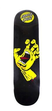 "SHAPE SANTA CRUZ SCREAMING HAND BLACK/YELLOW 7.9"" + LIXA"