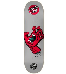 "SHAPES SANTA CRUZ SCREAMING HAND CINZA/RED 8.0"" + LIXA"