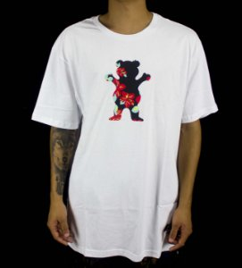Camiseta Grizzly Logo LUAN - WHITE