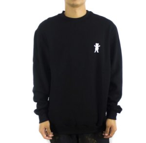MOLETOM CARECA GRIZZLY CREWNECK OG BEAR EMBROIDERED BLACK