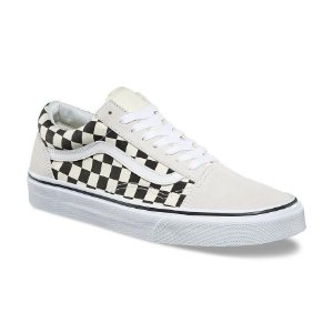 TÊNIS VANS OLD SKOOL (CHECKERBOARD) WHITE/BLACK