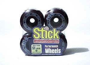 RODA STICK SKATEBOARD 51mm - PURPLE/BLACK