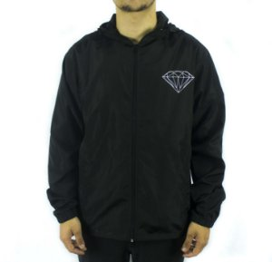 Jaqueta Windbreaker corta-vento Diamond brilliant black