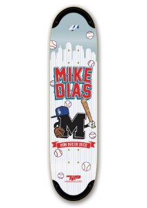 "Shape 4M Tip Technology Mike Dias Baseball Branco 8,0"" + LIXA EMBORRACHADA GRÁTIS"