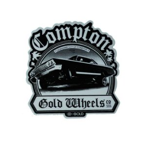Adesivo stickers Gold COMPTON Skateboard Sticker