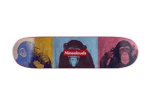 "Shape importado Maple Nineclouds Monkeys 8.125"" + Lixa emborrachada Grátis"