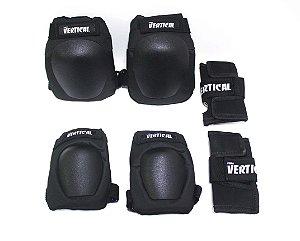 Kit Proteção Pro Fomo Vertical Infanto/JUVENIL  - Black