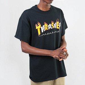CAMISETA Thrasher Flame Mag  - PRETA