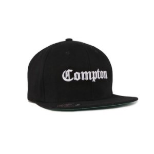 Bone Snapback Chronic Compton Aba Reta - Preto