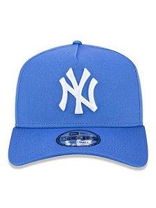 BONÉ 9FORTY A-FRAME ABA CURVA AJUSTÁVEL MLB NEW YORK YANKEES BASIC AZUL