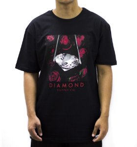 CAMISETA DIAMOND ROSE DIAMOND TEE BLACK