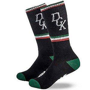Meia DGK Swervin Crew Socks - Black