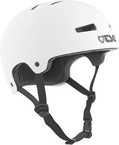 Capacete importado TSG Juvenil Evolution Solid Color Helmet Satin White