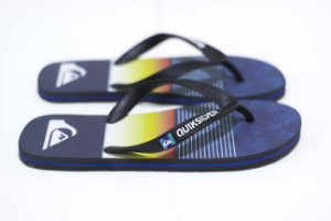 CHINELO QUIKSILVER SANDALS MOLOKAI SLAB - BLACK/BLUE/BLACK
