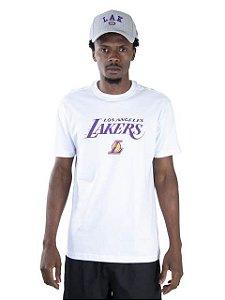CAMISETA NEW ERA NBA LOS ANGELES LAKERS ESSENTIALS TEAM BRANCA