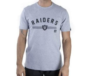 CAMISETA NEW ERA NFL OAKLAND RAIDERS ESSENTIALS POLKA DOT MESCLA CINZA CLARA