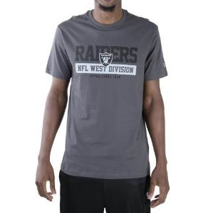 CAMISETA NEW ERA NFL OAKLAND RAIDERS ESSENTIALS DIVISION CINZA ESCURA