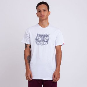 CAMISETA ELEMENT TIMBER IN THE OWL - BRANCA