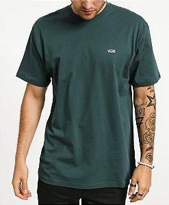 Camiseta Vans Left Chest Logo trekking green