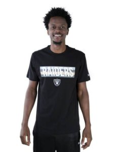 CAMISETA NFL OAKLAND RAIDERS COLOR STRIPE DIVISION PRETA