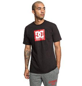 Camiseta DC Shoes Basic Square Star logo - Preta