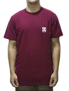 Camiseta Dc Shoes Basic logo - Vermelho mescla