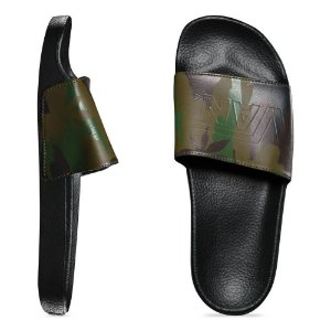 CHINELO SLIDE-ON VANS PEACE LEAF CAMO-BLACK