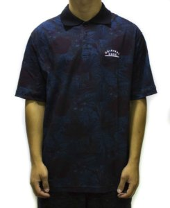 CAMISA POLO CODE FLORAL TRACING - AZUL