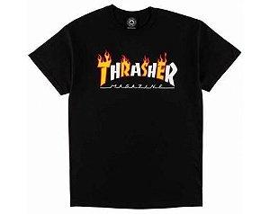 Camiseta BIG Thrasher BIG Flame Mag - Preta