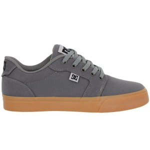 Tênis DC Shoes Anvil TX LA Grey Black Grey - Cinza