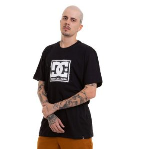 CAMISETA BASIC PATTERN BOX DC SHOES - PRETA