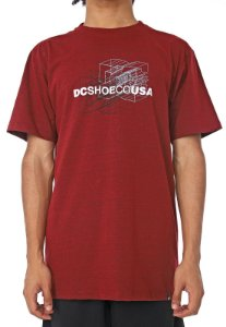 CAMISETA DC SHOES DOUBLE DIMENSION - VERMELHO MESCLA
