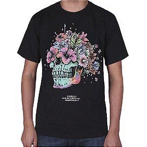 Camiseta Chronic skull flowers