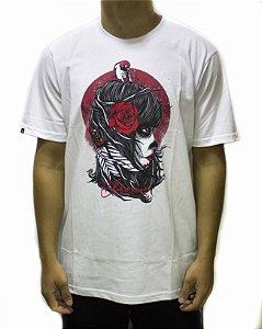 Camiseta Chronic India flowers - Branca