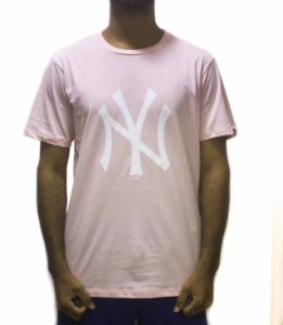 CAMISETA NEW ERA MLB NEW YORK YANKEES LOGO - ROSA