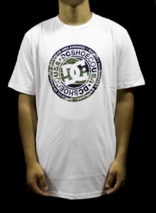 CAMISETA DC SHOES STAR CIRCLE - BRANCA