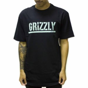 CAMISETA GRIZZLY STAMPED BLACK/CIANO