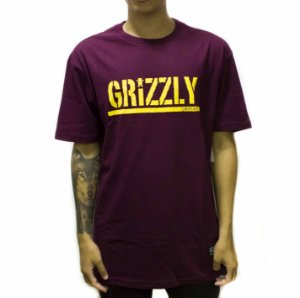 CAMISETA GRIZZLY STAMPED BURGUNDY