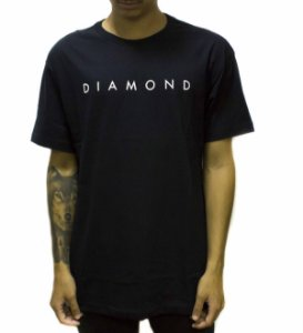 CAMISETA DIAMOND LEEWAY TEE - BLACK