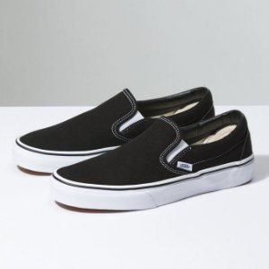 TÊNIS VANS SLIP-ON CLÁSSICO - BLACK/WHITE