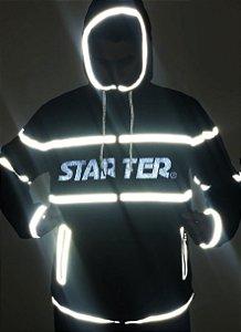 JAQUETA STARTER REFLETIVA WINDBREAKER CORTA_VENTO - BLACK/WHITE