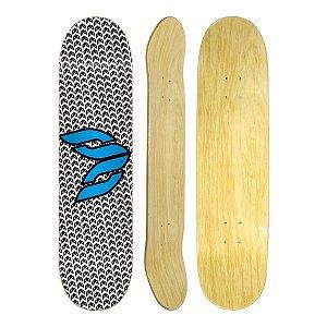 """Shape de Skate Cisco Marfim Logo Blue 8"""" + Lixa Gratis"""