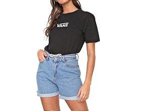 Camiseta Vans Feminina Airbone v Boxy - Preta