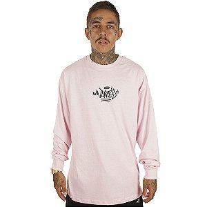 Camiseta Wanted Manga Longa – Logo Pixo rosa