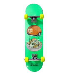 "SKATE HONDAR RED IMPORTADO MONTADO PRO SKT BALL YELLOW - NEW ""MAPLE"""